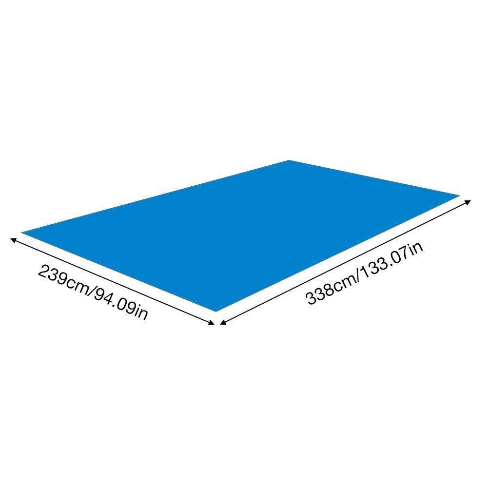 piscina, tamanho grande, 338x239cm para áreas externas capa de proteção