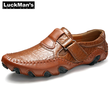 Zapatos de hombre zapatos de cuero genuino Split para Hombre Zapatos de gancho de conducción Casual de moda de fondo suave alpargatas planas Mocassin Homme