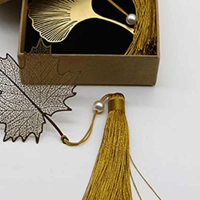 Ader Tasseled Leaf Bladwijzers Literatuur Kunst Studenten Levert Messing Blad Bladwijzers Geschenken