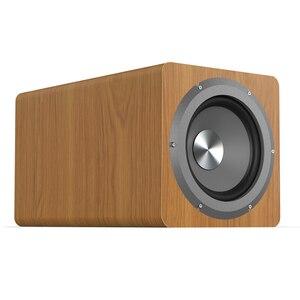 Image 5 - Haut parleur de basse Pure 6.5 pouces 100W grande puissance Subwoofer Home cinéma haut parleur pour ordinateur TV lecteur de musique bois haut parleurs noirs