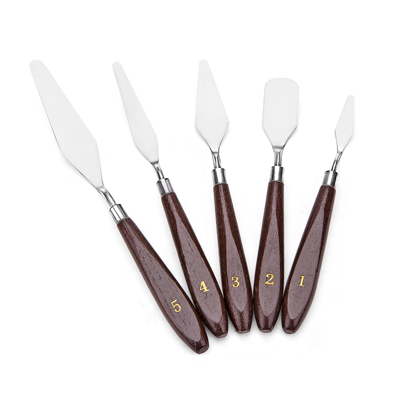 Professio 5PCS Mixed Palette Knife Painting Stainless Steel Scraper Spatula Art Supplies for Artist Canvas Oil Paint Color image
