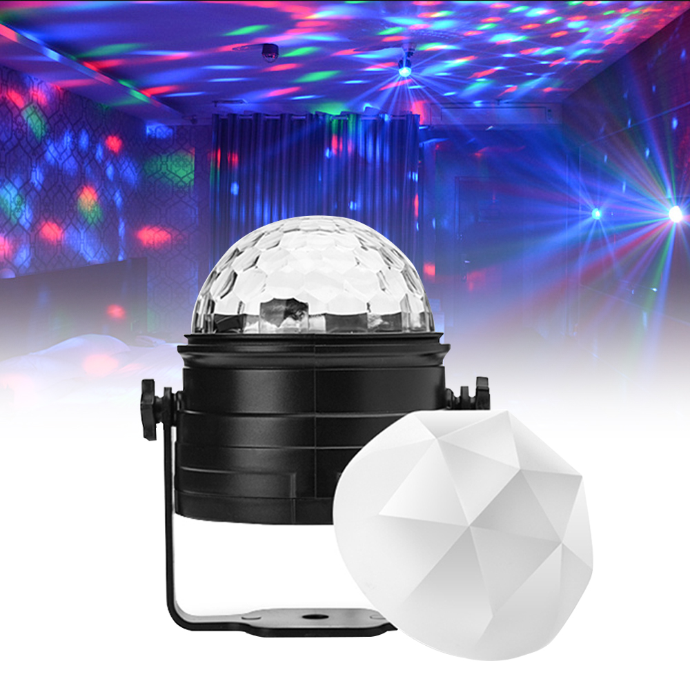 Led Disco Light Mini Stage Lights Sound Activated Laser Projector Rotating Effect Lamp For Christmas Party Show Night Light