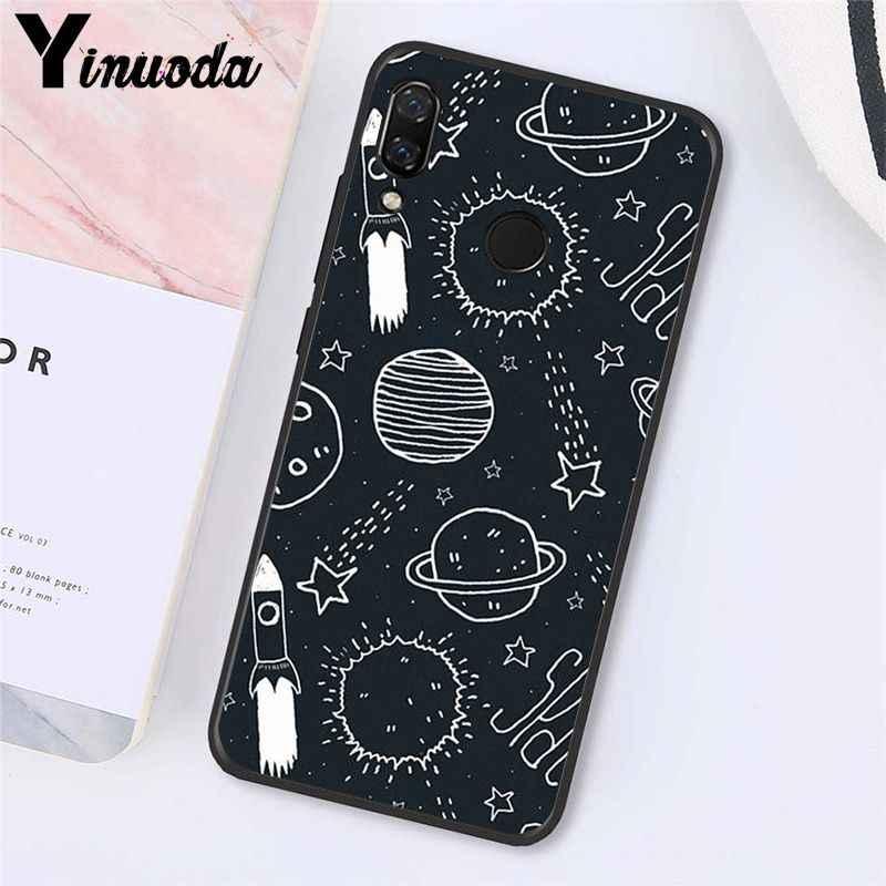 Yinuoda Ruang Astronot Bulan Alam Semesta Rubah Ponsel Case untuk Xiaomi Redmi4X 6A S2 Pergi Redmi 5Plus Note4 Note5 7 Note6Pro
