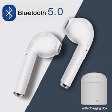 I7s tws fones de ouvido sem fio estéreo earbud bluetooth fone para iphone xiaomi todo o telefone inteligente com caixa carregamento