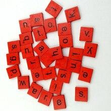 100Pcs/Set Learning Toy Spacer Wood Beads Cube Alphabet Letter Bracelet Jewelry Making DIY Set