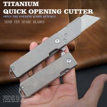 Titanium Folding Knife Multi-functional Emergency Medical EDC High Hardness Portable Outdoor Rescue Tool Knife