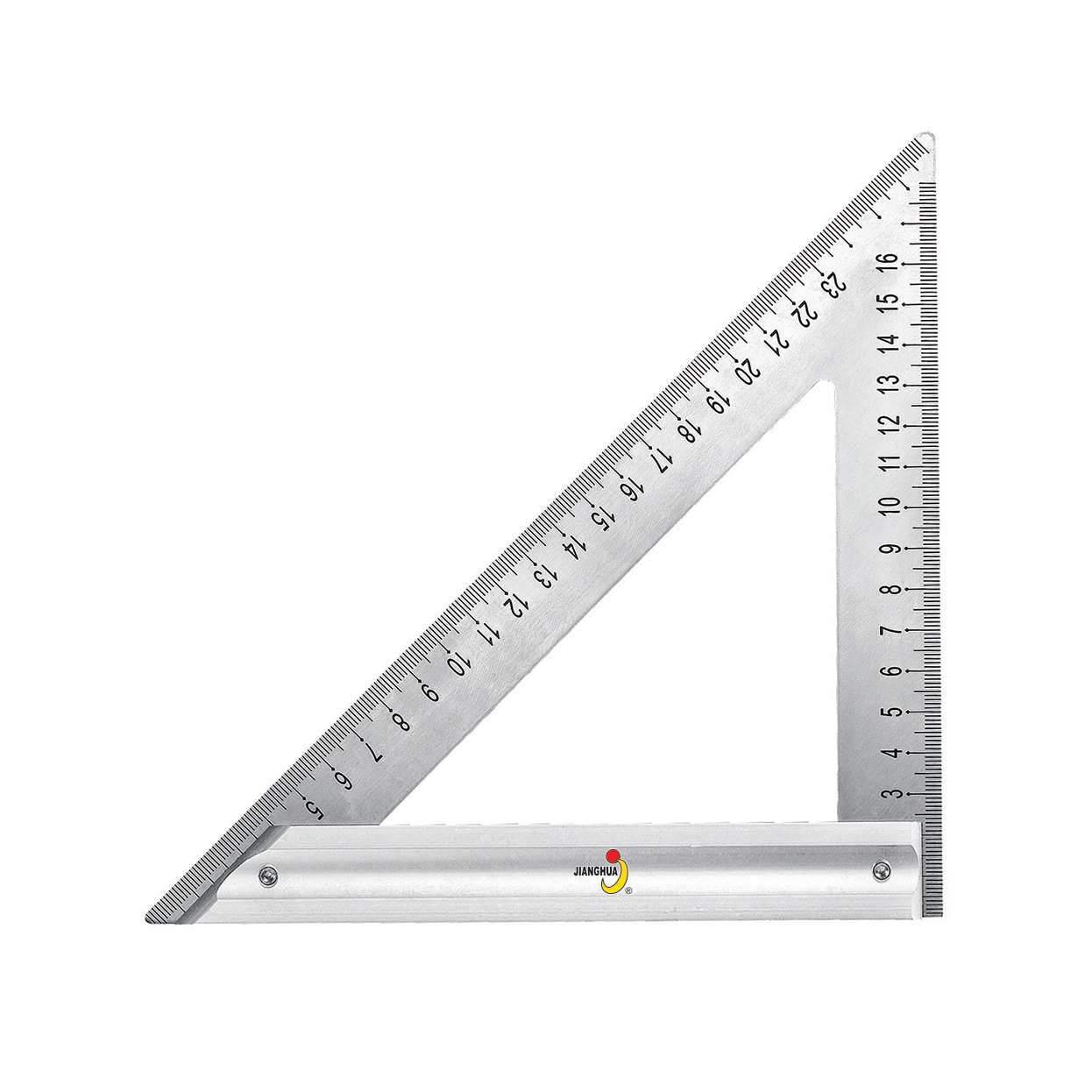 Cegar Hua Tool Aluminum Seat Stainless Steel Triangle Ruler L-square 120 Mm 180 Mm 015012 015018