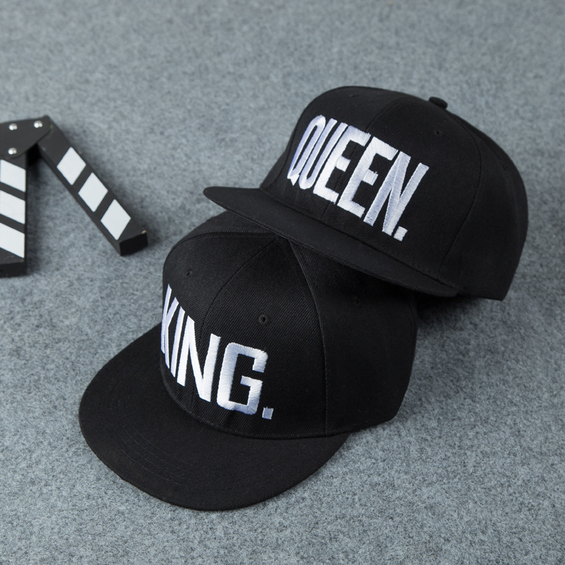 Fashion-KING-QUEEN-Men-s-Women-s-Baseball-Hat-Spring-Band-King-Queen-Embroidery-Couple-Hip (2)