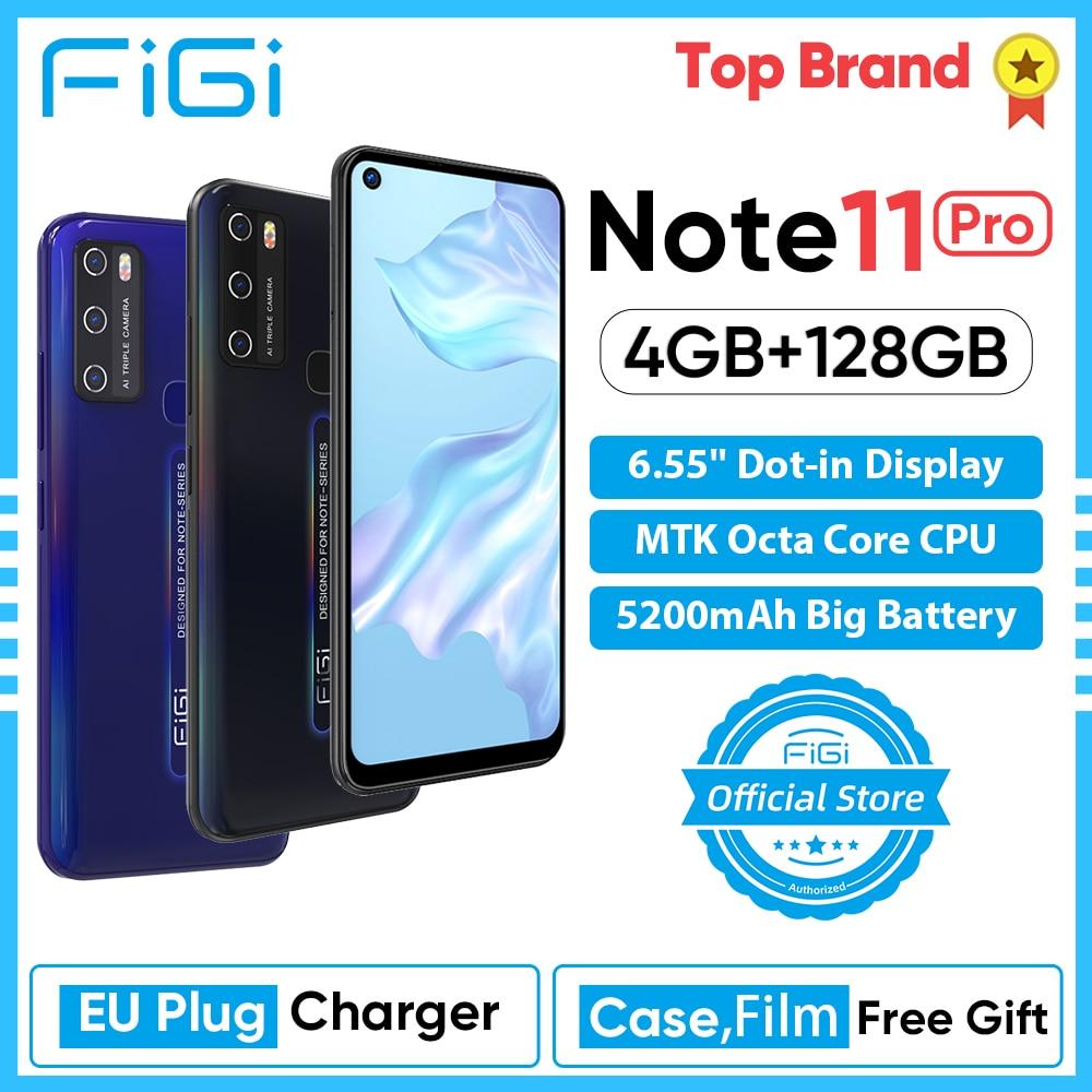 FIGI Примечание 11 Pro 4 Гб Оперативная память 128 Гб Встроенная память Helio Octa Core телефонные SIM Бесплатная 6,55 ''Дисплей мобильный телефон Android смартф...