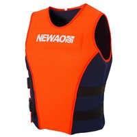 Adults Life Jacket Neoprene Safety Life Vest for Water Ski Wakeboard Swimming Fishing Vest Safety Life Jacket For Boating Kayak