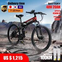 electric bicyclea  e bike 800w 48v12.8ah lithium battery 26 inch  ebike bike folding mountain for adults folding Foldable 1