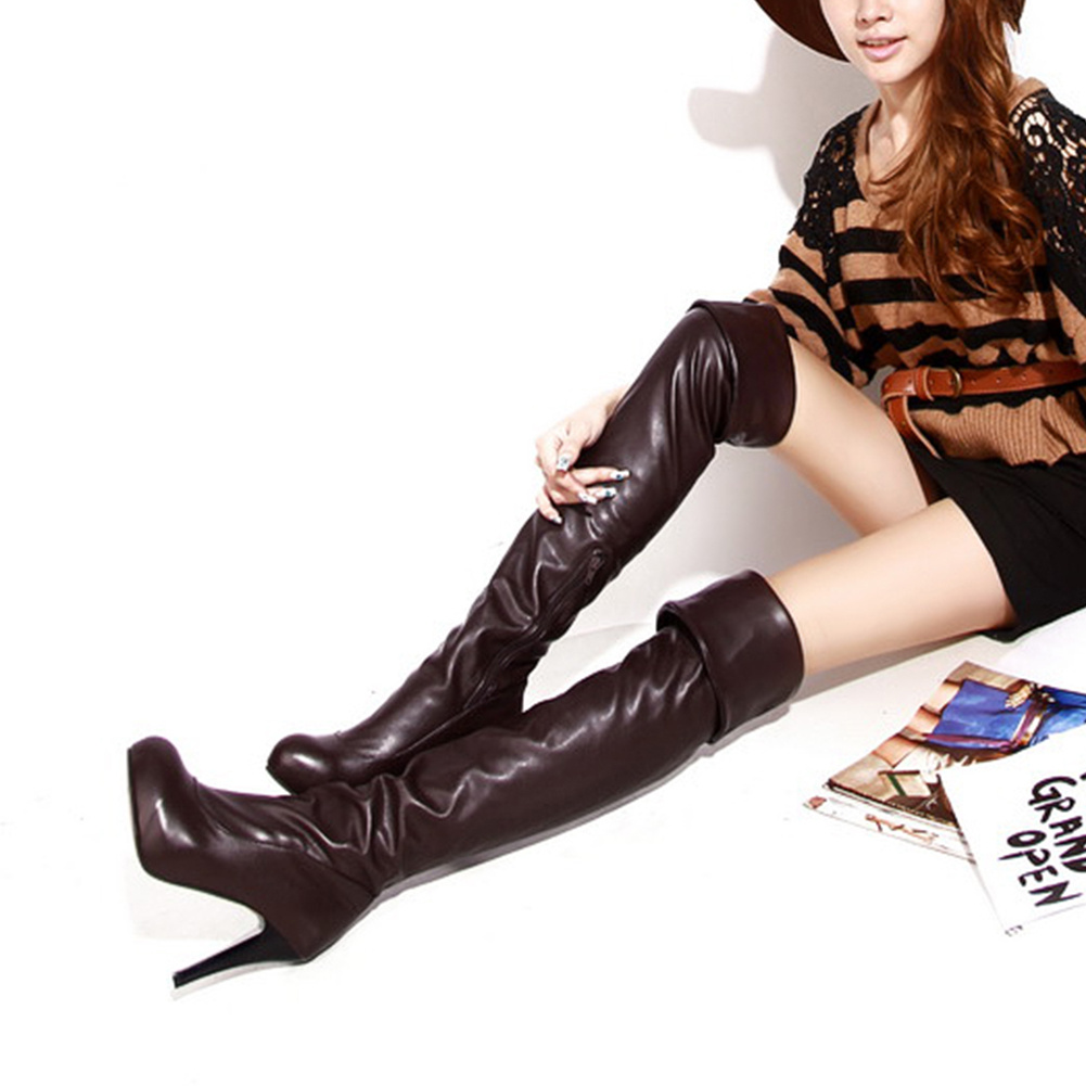 Lapolaka Big Size 31 46 High Heels Platform Over The Knee Boots Women Shoes Autumn Winter Shoes Woman Boots Female