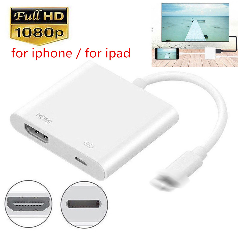 2019 NEW Arrival Professional HDMI Cable Adapter For Apple Interface 8Pin To HDMI Digital AV Converter For IPad IPhone IOS 11 10