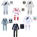 Детские страшные костюмы ди-Джея из искусственного зефира, маска, комбинезон, музыкальный боди, костюм на Хэллоуин для мальчиков и девочек