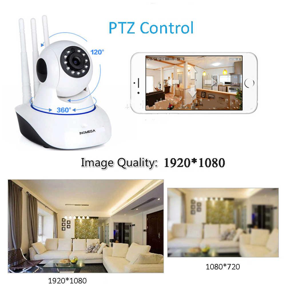 INQMEGA 1080P 720P 2M كاميرا مراقبة IP لاسلكية PTZ كاميرا مراقبة صغيرة واي فاي كامارا CCTV IR مراقبة الطفل