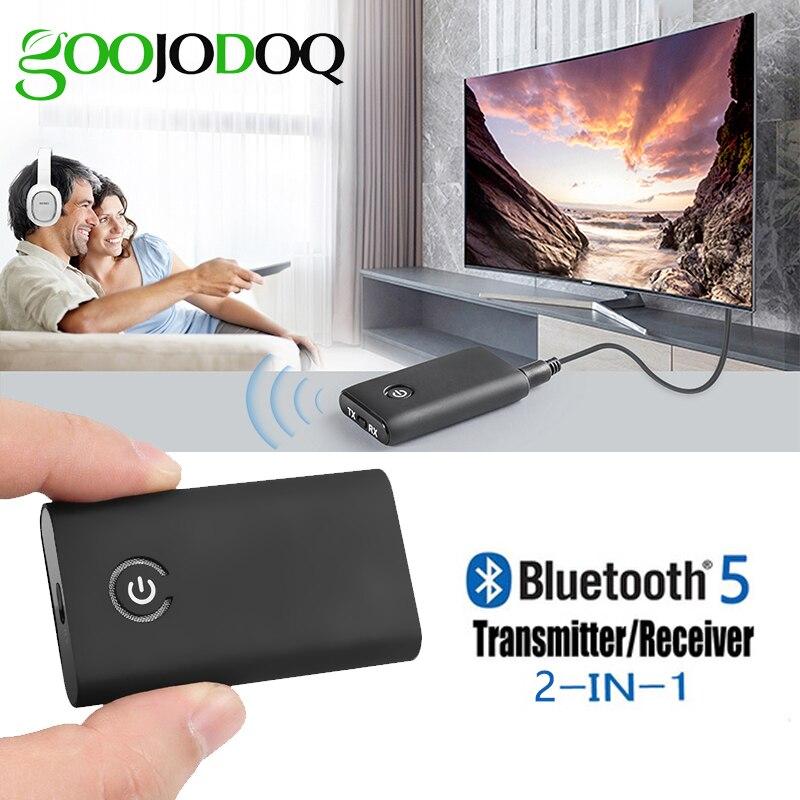 Adaptador Bluetooth 5,0 Audio estéreo inalámbrico de 3,5 MM CSR 4,0 receptor de APT-X transmisor para altavoz de TV auriculares sistema estéreo de coche
