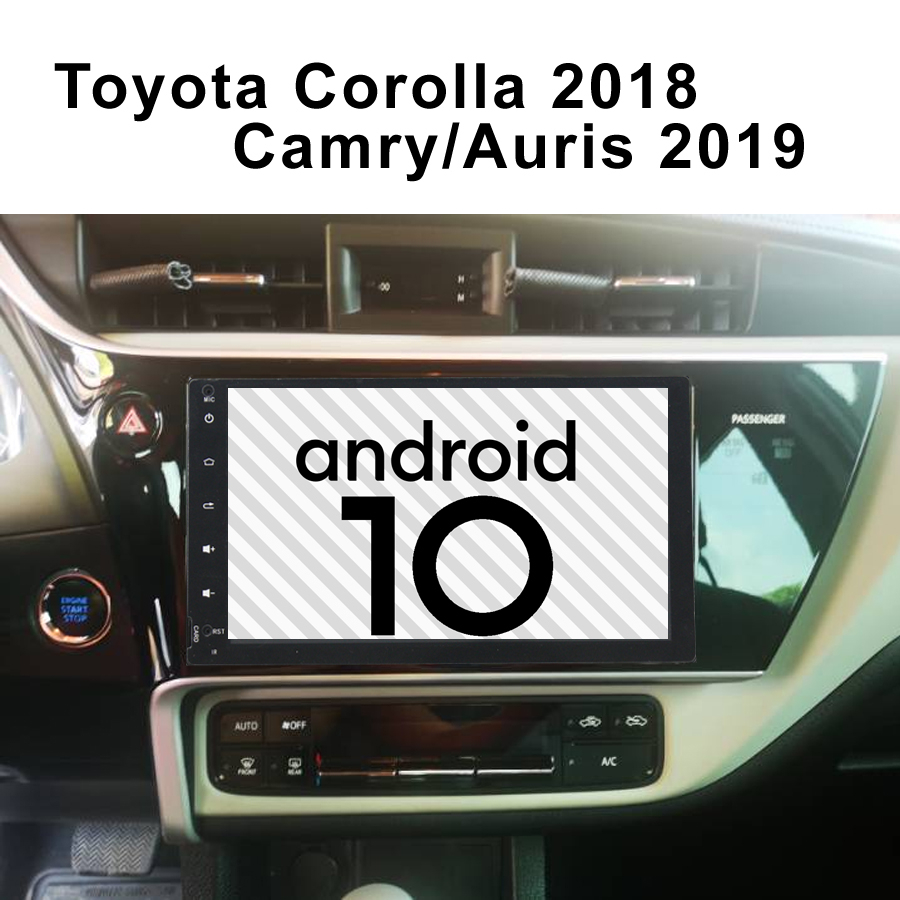 For Toyota Camry Corolla 2018 Auris Car Multimedia Player Android 10.0 Gps BT Navigation Stereo Tape Recorder Radio Head Unit image