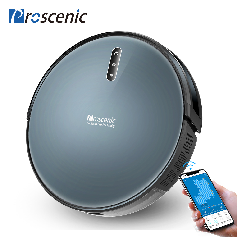 Proscenic 830P 2000PA Carpet Auto Pressure Boost Robot Vacuum Cleaner With Wet Cleaning Planned Washing Vacuum Cleaner For Home