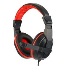 Игровые наушники 3,5 мм, регулируемая стереофоническая Компьютерная гарнитура с шумоподавлением и микрофонами для геймеров
