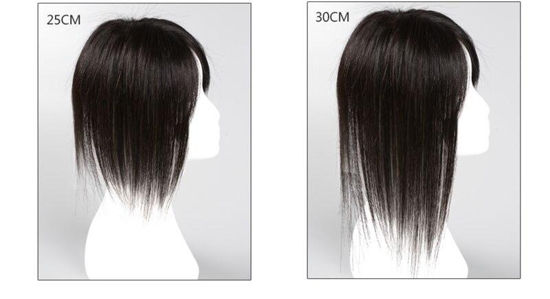 natural preto topper hairpiece com bang pedaço de cabelo