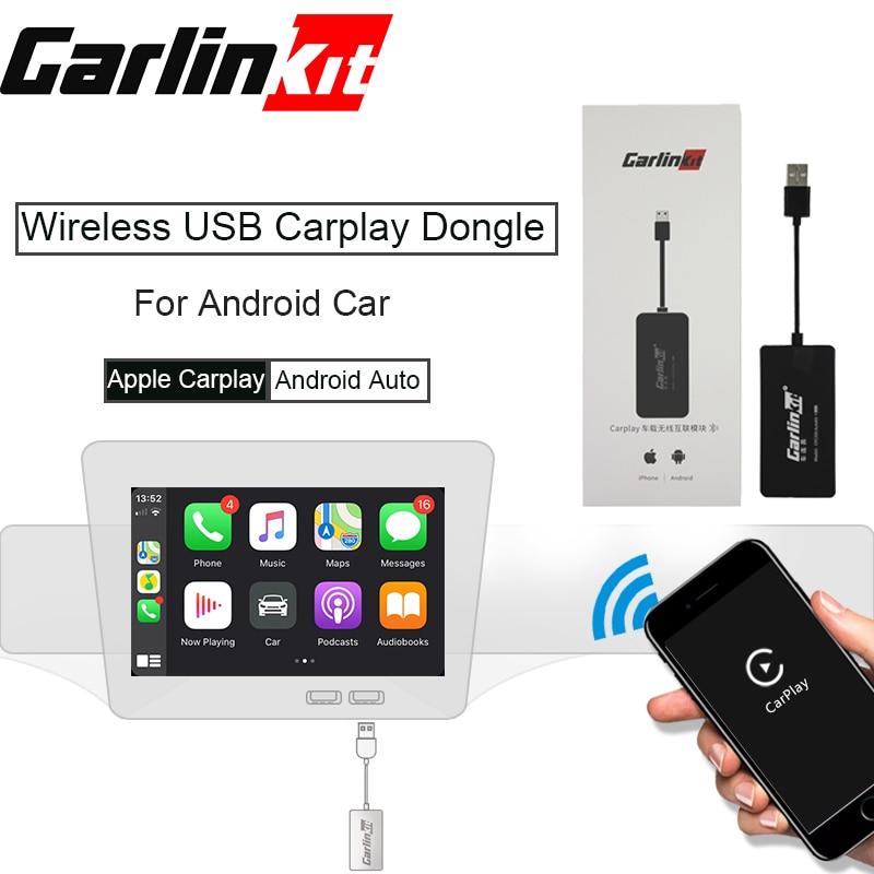 Mini-clé USB avec Android Auto noir Carlinkit sans fil Smart Link Apple CarPlay Dongle pour lecteur de Navigation Android