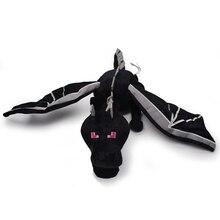 Peluche EnderDragon noire 60cm, jouets de dessin animé, cadeaux d'anniversaire pour enfants