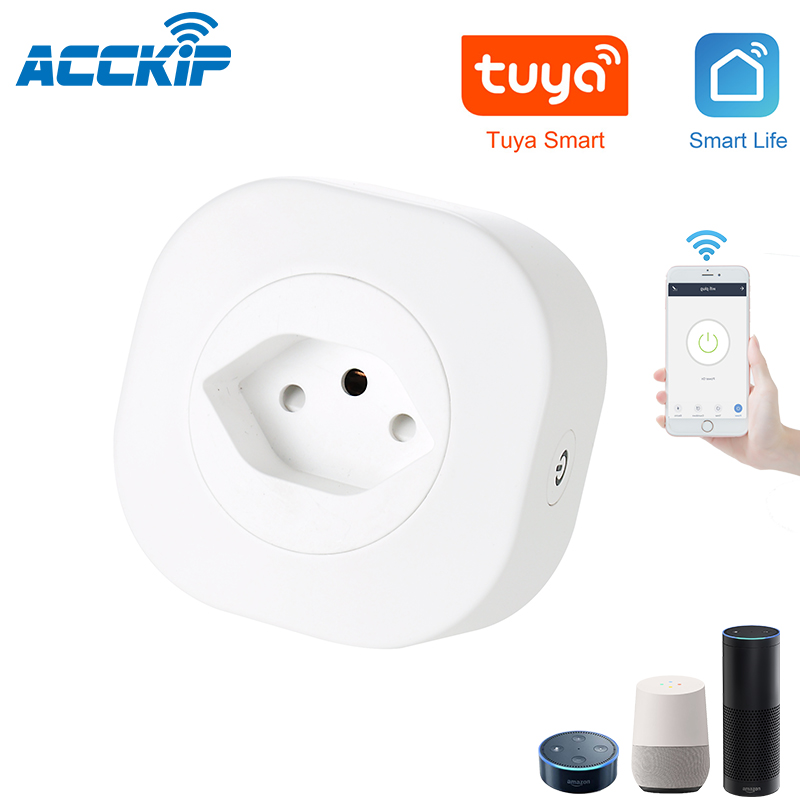 ACCKIP Switzerland Mini Wifi Smart Plug CH Smart Socket Switch Tuya APP Voice Control enchufe inteligente wifi Sweden Plug