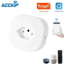 Acckip Zwitserland Mini Wifi Smart Plug Ch Smart Socket Switch Tuya App Voice Control Enchufe Inteligente Wifi Zweden Plug