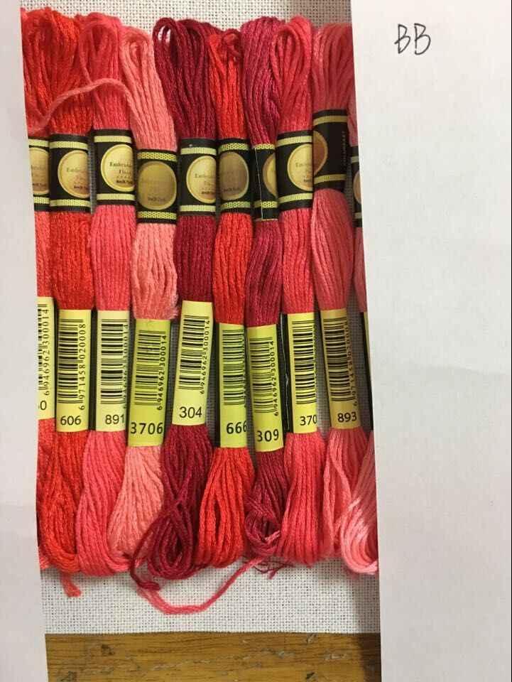 Cxc متعدد الألوان 8 قطعة مماثلة DMC الموضوع عبر غرزة القطن الخياطة Skeins التطريز الخيط عدة لتقوم بها بنفسك أدوات خياطة