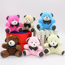 9cm bear keychain small pendant ornaments gift plush sitting creative toy WJ034