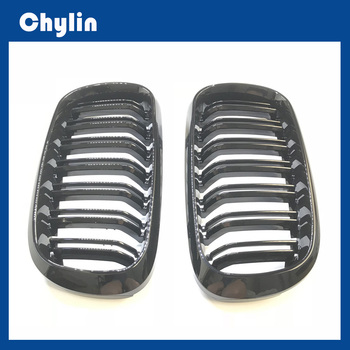 2014-2018 1 Pair X5 f15 X6 f16 Glossy Black Abs Material Kidney Car Front Grill for BMW Xdrive Vehicle Front Bumper Grille image