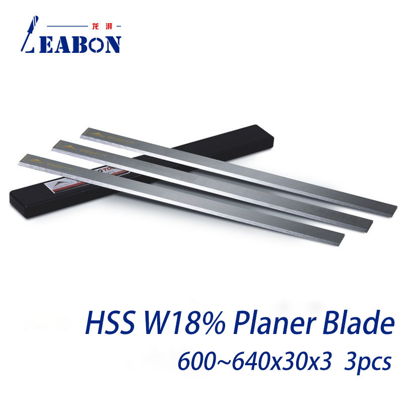 Planing Blade Planer Knife W18%  HSS Woodworking Cutter for Hard and Soft Wood Board Planing 600mm to 650mmx30mmx3mm