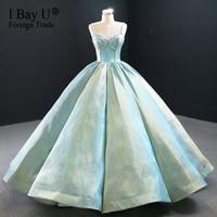 Sparkle Diamond Simple Wedding Dress 2020 vestido de noiva Vintage Crystal Beaded Bridal Dress Puffy Skirt Robe De Mariee
