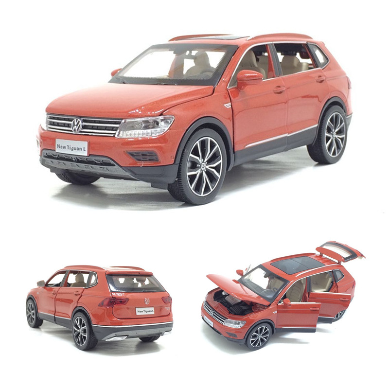Volkswagen Tiguan L Simulation Alloy Car Model 1:32 Acousto-optic Children's Toy Car Model Children's Toy