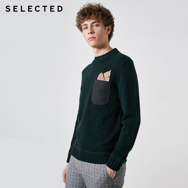 SELECTED Men's Autumn & Winter Woolen Round Neckline Knit Sweater S 418425516