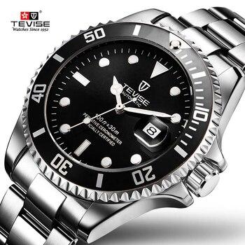 ¡Envío directo 2019! reloj mecánico automático Tevise de lujo para hombre, reloj Masculino de acero inoxidable a la moda