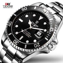 Tevise montre mécanique automatique de marque pour homme, horloge de luxe en acier inoxydable, modèle livraison directe