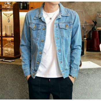 ZOGAA Autumn Denim Jacket Men Solid Cowboy Spring Casual Slim Bomber Jacket Male Jean Mens Coats Jacket Outwear Plus Size 5XL
