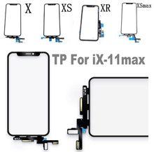 1pc Original Qualität LCD Display Touch Screen Front Äußere Glas Panel Flex Für iPhone 11 pro XR X XS max rahmen Ersatz Teile