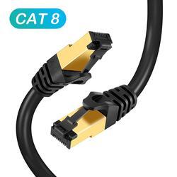 Kot 8 kabel Ethernet RJ45 kabel sieciowy SFTP 40 gb/s super prędkość 10 m/20 m/30 m do routera kabel do laptopa Ethernet -