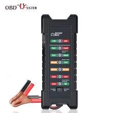 12v 24 v bateria de carro testador rápido cranking testador alternador 7 led display de luz ferramentas diagnóstico automático 24 volts bateria analisar