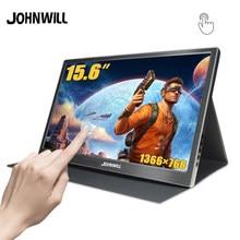 Monitor portátil 15.6 usb tipo c hdmi toque lcd hd ips tela para laptop, telefone, xbox, interruptor, ps4 jogos portáteis de exposição