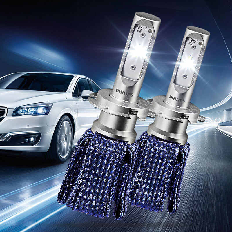 2X Philips Ultinon Essential LED Kit 6000K 12V H7 Headlight 100% More Brightness Car LED Genuine Lamps Original Bulbs 11972UEX2