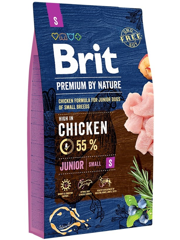 Food Brit Premium By Nature Junior S For Puppies Small Breeds, Chicken, 8 Kg.