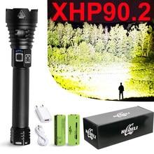 Lampe torche usb tactique la plus puissante, rechargeable, 300000 lm, xhp90.2, xhp70, 18650 26650, lampe de travail xhp50