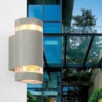 7pcs/lot 2*4w Outdoor Sconces Wall Lamp LED Spotlight Porch Garden Lights Aluminum Light Waterproof IP65 220V 110V