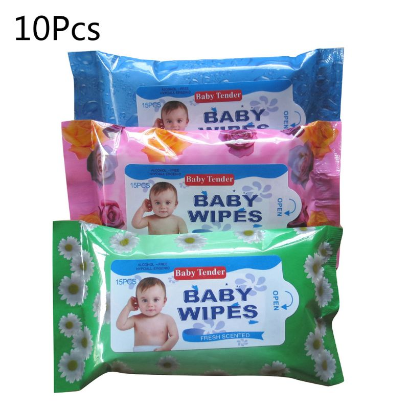 100 Sheets Soft Alcohol Free Wet Wipes Kids Baby Moisturizing Tissues Cleaning