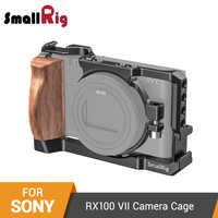 SmallRig RX100 VII клетка для камеры Sony RX100 VII и RX100 VI Dslr клетка с деревянной боковой ручкой/Холодный башмак RX100 VI клетка-2434