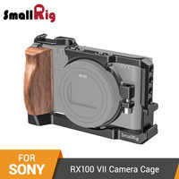 SmallRig RX100 VII Camera Cage for Sony RX100 VII and RX100 VI Dslr Cage With Wooden Side Handle / Cold Shoe RX100 VI Cage-2434