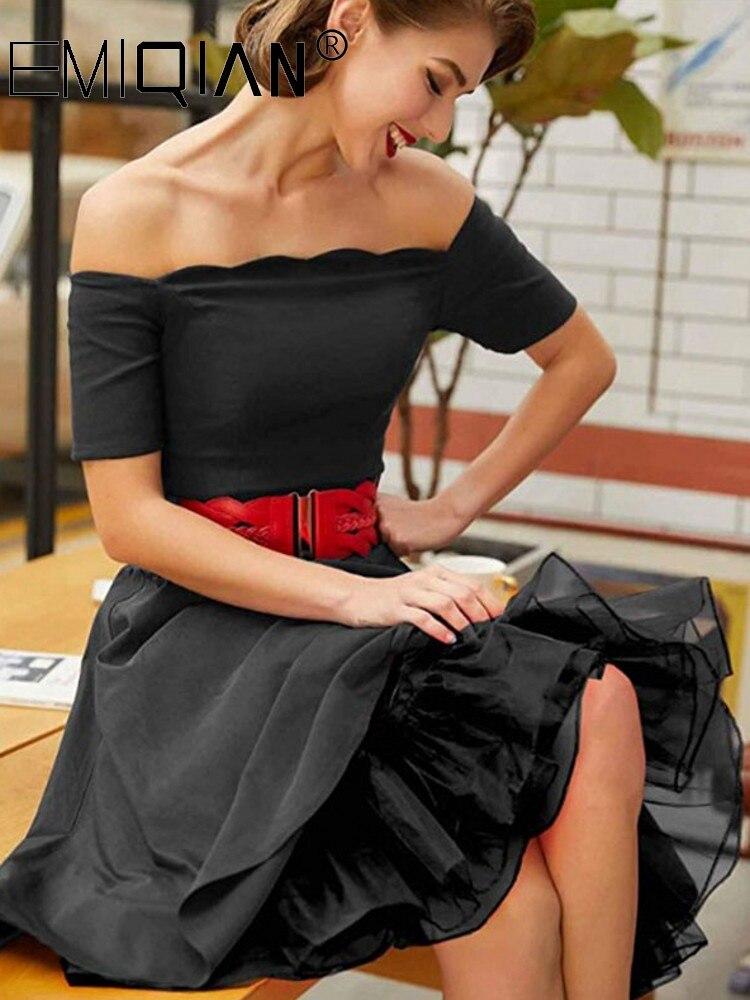 Short Organza Petticoat For Cocktail Dresses Crinoline Underskirt Black White Red